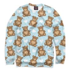Свитшот Медвежата и сердечки