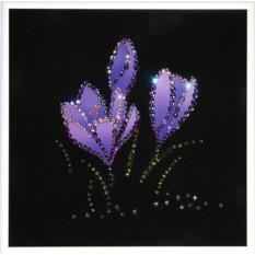 Картина с кристаллами Swarovski Синие подснежники