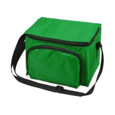 Зеленая сумка-холодильник с отделением на молнии на 3 литра