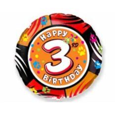 Круглые фольгированные шары с цифрами от 0 до 9