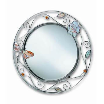 Зеркало «Стрекоза с розой»