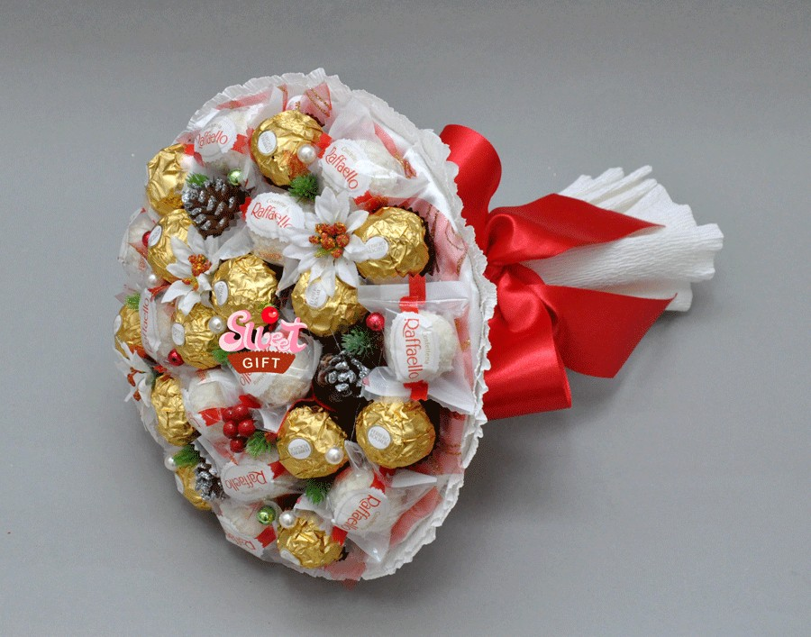 Как сделать букет с конфет очень быстро