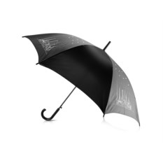 Зонт-трость Восьмое чудо света (черный со стразами)