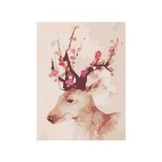 Картина по номерам «Цветущий олень»