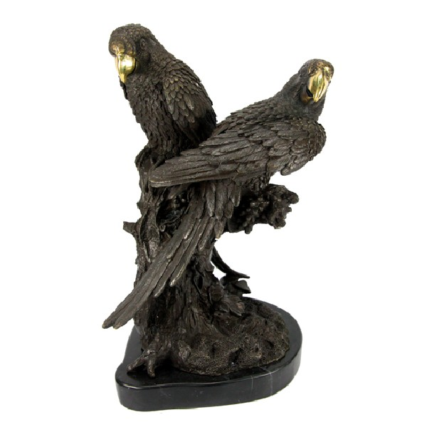 Бронзовая статуэтка Попугаи