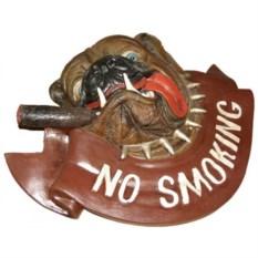 Панно Бульдог: не курить