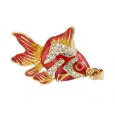Флешка Рыбка красная со стразами