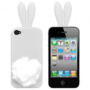 Чехол для iPhone4 Bunny white