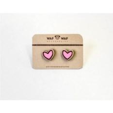 Сережки WafWaf Сердечки