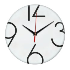 Настенные часы без разделителей