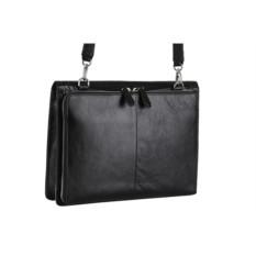 Мужская черная сумка Leo Ventoni с откидным верхом