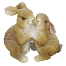 Декоративная садовая фигура Два зайчика
