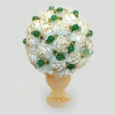 Цветы из нефрита Нефритовый букет