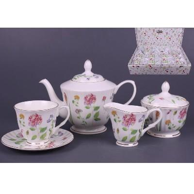 Чайный набор на 6 персон Цветы