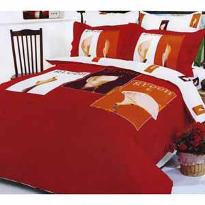 Комплект постельного белья EVERGREEN RED 2 спал.