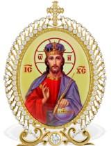Серебряная настольная икона с образом Господь Вседержитель