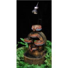 Фонтанс верхней подсветкой Старинные кувшины-чаши