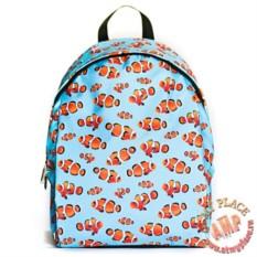 Голубой рюкзак Рыбки