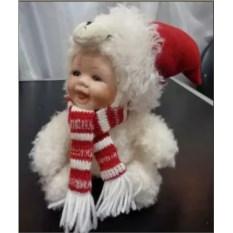 Интерьерная декоративная фигурка-куколка Снеговик