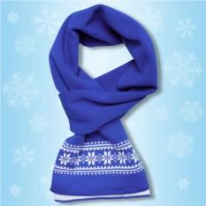 Синий шарфик «Зимние узоры»