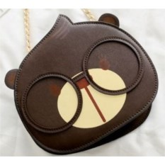 Мини-сумочка Мишка (цвет: темно-коричневый)