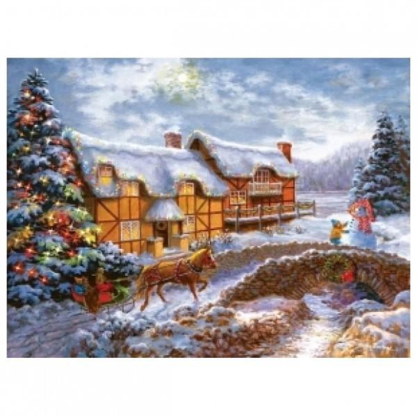 Картина-раскраска Рождество