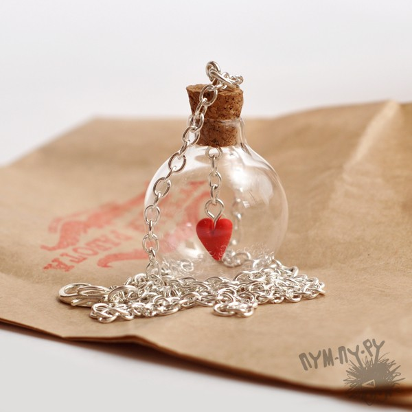 Кулон Баночка с сердцем