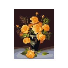 Картина по номерам «Букет желтых роз»