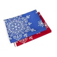 Синяя декоративная скатерть «Снежинки»