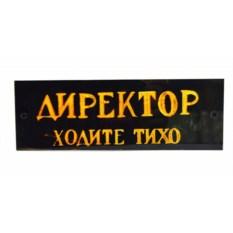 Табличка на дверь Директор