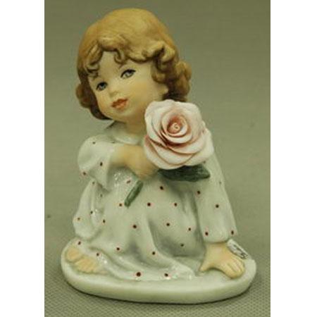 Фигурка «Девочка с розой»