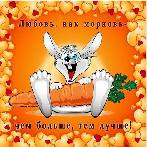Магнит Любовь, как морковь...