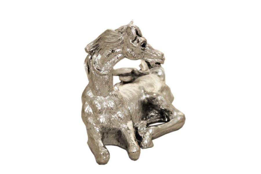 Серебристая статуэтка Лошадь Гамма