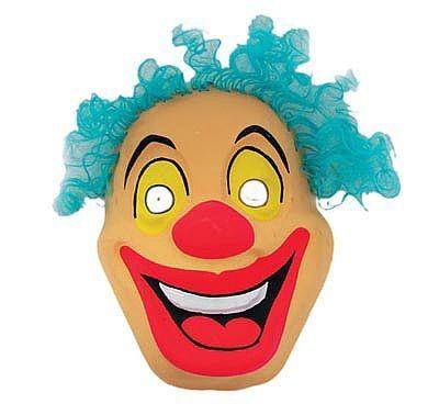 Маска с волосами Клоун