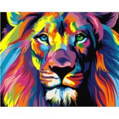 Картины по номерам «Радужный лев Ваю Ромдони