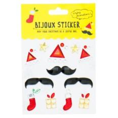 Набор стикеров Christmas Bijoux Moustache