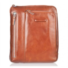 Кожаная оранжевая сумка для планшета Piquadro Blue Square