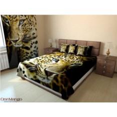 Фотопокрывало Леопард на черном