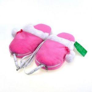 USB-Тапочки с подогревом с помпонами