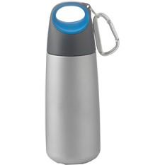 Синяя емкость для питья на 350 мл с карабином