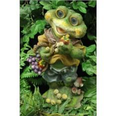 Садовый светильник Лягушка с корзинкой