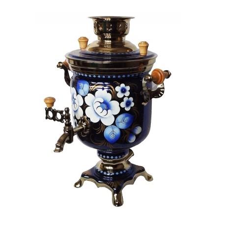 Электрический самовар Синие цветы