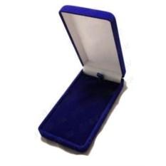 Синяя бархатная коробочка для подарков