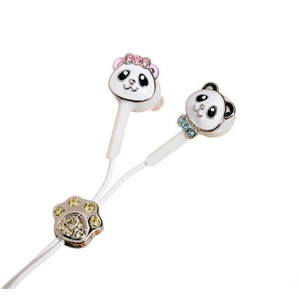 Наушники для iPod/iPhone «Влюбленные панды»