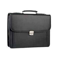 Кожаный портфель с тремя отделениями