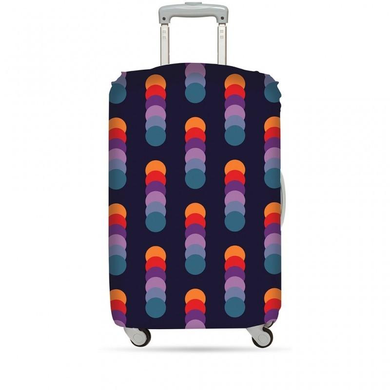 Чехол для чемодана LOQI Geometric Circles M