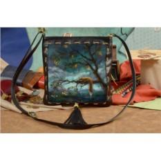 Женская сумка-планшет с принтом Лисица на дереве