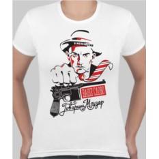 Женская футболка Маяковский, маузер