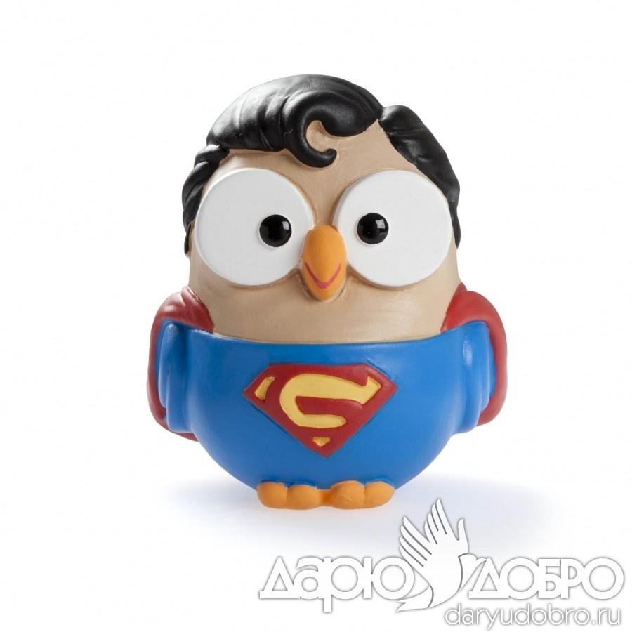 Итальянская керамическая статуэтка Сова Супермен