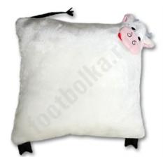 Подушка ручной работы Белый бычок